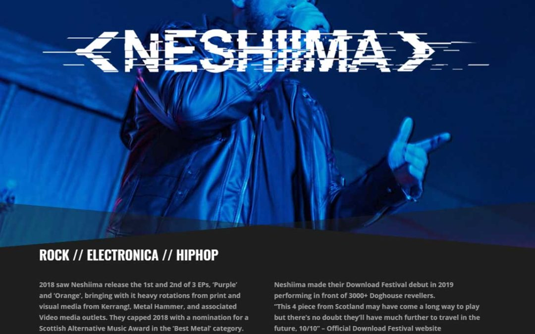 Website redesign for Neshiima (band)